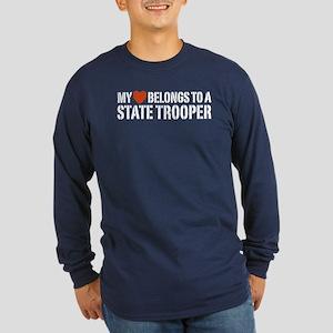State Trooper Long Sleeve Dark T-Shirt