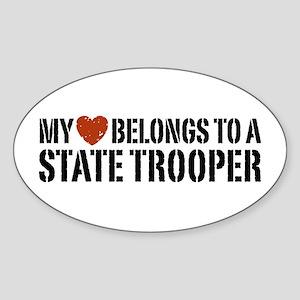 State Trooper Oval Sticker