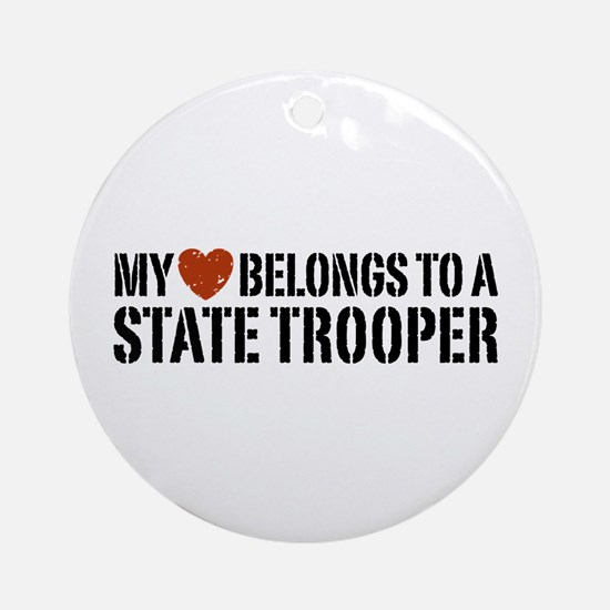 State Trooper Ornament (Round)