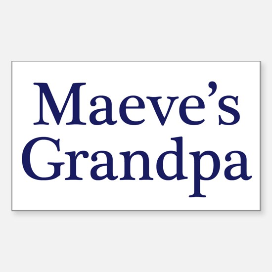 Maeve Grandpa Rectangle Decal