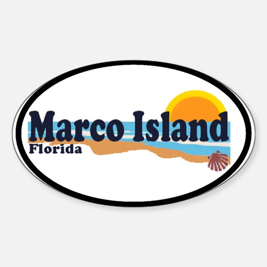 Marco Island FL Oval Decal