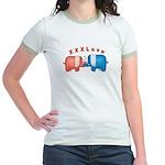 Elephants Love Jr. Ringer T-Shirt