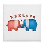 Elephants Love Tile Coaster