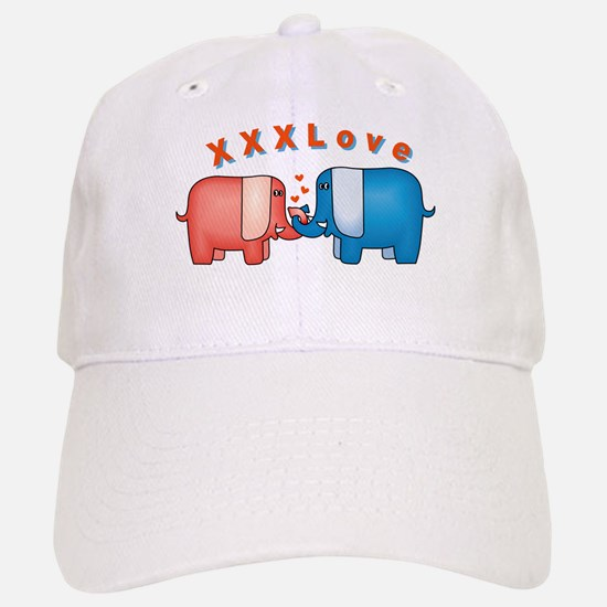 Elephants Love Baseball Baseball Cap