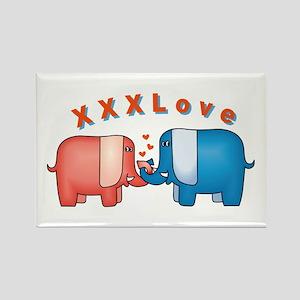 Elephants Love Rectangle Magnet