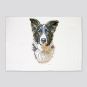 Border Collie 5'x7'Area Rug