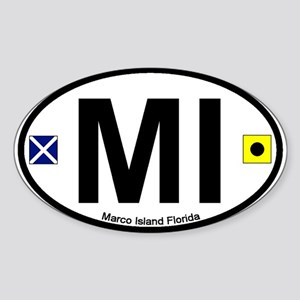 Marco Island FL Oval Sticker