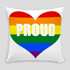 PROUD HEART (Rainbow) Everyday Pillow