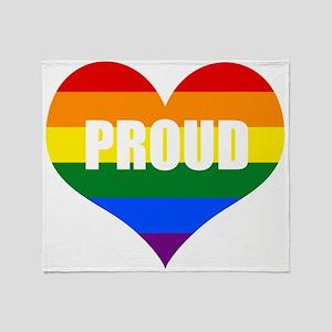 PROUD HEART (Rainbow) Throw Blanket