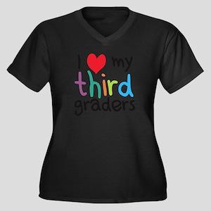 I Heart My Third Graders Teacher Love Plus Size T-