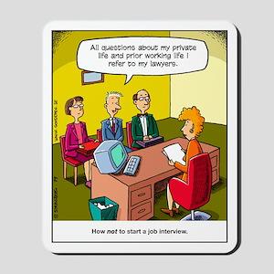 Job Interview Mousepad