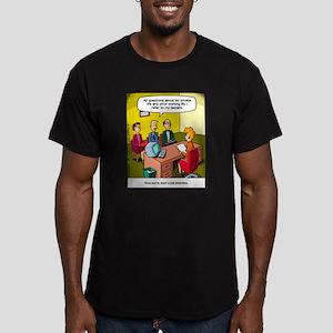 Job Interview Men's Fitted T-Shirt (dark)