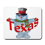 Texas Snowman Mousepad