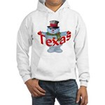 Texas Snowman Hooded Sweatshirt