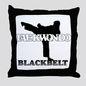 TKD Black Belt Throw Pillow