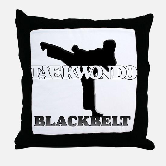 TKD Black Belt Throw Pillow