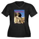 Wisdom Women's Plus Size V-Neck Dark T-Shirt