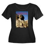 Wisdom Women's Plus Size Scoop Neck Dark T-Shirt