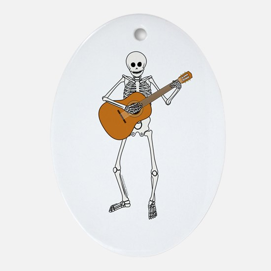 Spanish Guitar Player Oval Ornament