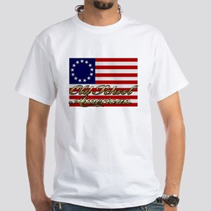 Old School American White T-Shirt