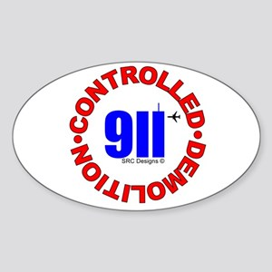 911 CONSPIRACY CONTROLLED DEM Oval Sticker