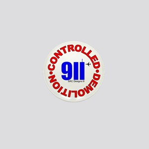 911 CONSPIRACY CONTROLLED DEM Mini Button