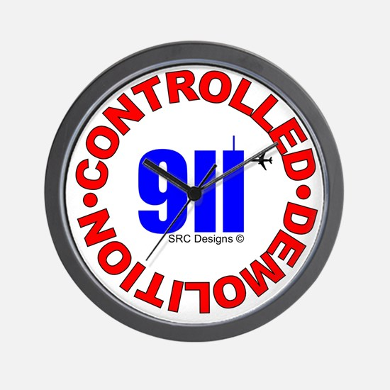911 CONSPIRACY CONTROLLED DEM Wall Clock