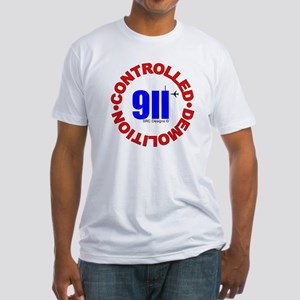 911 CONSPIRACY CONTROLLED DEM Fitted T-Shirt