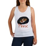 Peeking Orange Tabby Women's Tank Top