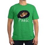 Peeking Orange Tabby Men's Fitted T-Shirt (dark)