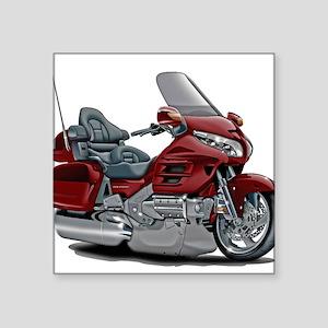 "Goldwing Maroon Bike Square Sticker 3"" x 3"""