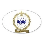 GAUDIN Family Crest Oval Sticker