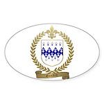 GAUDIN Family Crest Oval Sticker (50 pk)