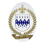GAUDIN Family Crest Oval Ornament