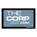 """Office Opossums """"Corp"""" Logo Sticker (Rec"""