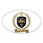 PAGEOT Family Crest Oval Sticker (50 pk)