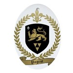 PAGEOT Family Crest Oval Ornament