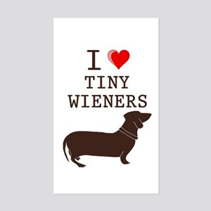 Tiny Wiener Dachshund Rectangle Sticker