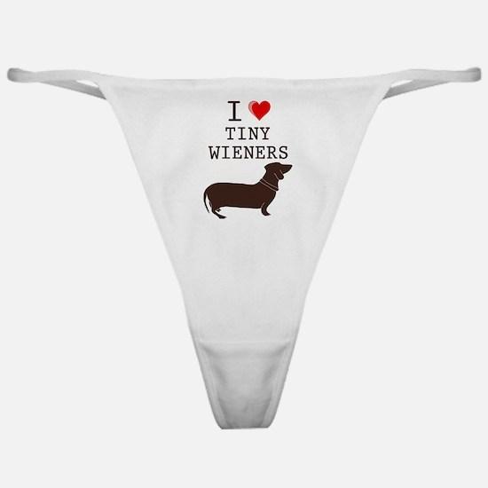Tiny Wiener Dachshund Classic Thong