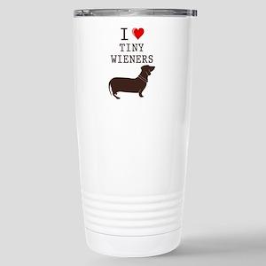 Tiny Wiener Dachshund Stainless Steel Travel Mug