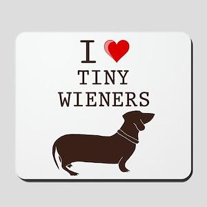 Tiny Wiener Dachshund Mousepad