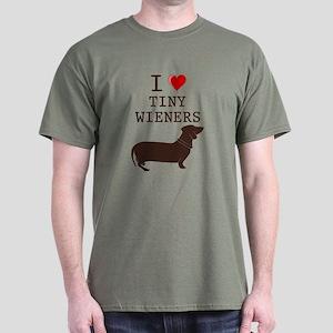 Tiny Wiener Dachshund Dark T-Shirt