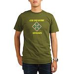 4TH INFANTRY DIVISION Organic Men's T-Shirt (dark)