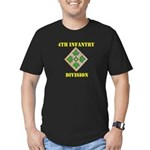 4TH INFANTRY DIVISION Men's Fitted T-Shirt (dark)