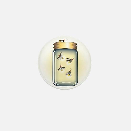Fireflies in a Jar Mini Button