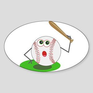 BaseBall Jock! Oval Sticker