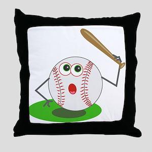 BaseBall Jock! Throw Pillow