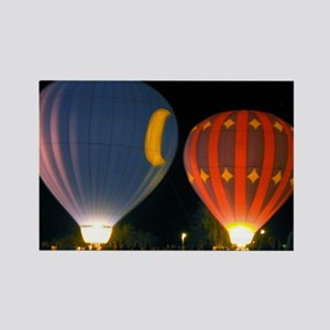 Two Night Balloons Rectangle Magnet