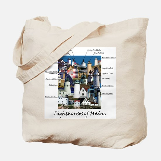 Lighthouses of Maine Tote Bag