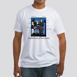 Lighthouses of New Jersey Fitted T-Shirt